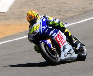 Rossi going around the track, again