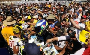 Picture of me in the crowd.  Courtesy of Yamaha-Racing.com