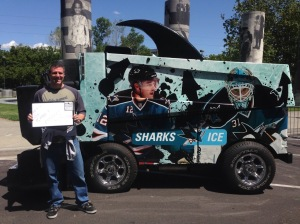 James by the Sharks Zamboni