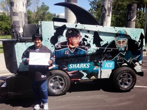 Me by the Sharks Zamboni